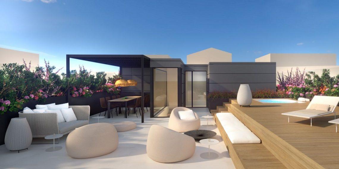 palma luxus penthouse mit privatem pool mallorca crocodiles. Black Bedroom Furniture Sets. Home Design Ideas