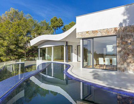 Futuristische Architektenvilla